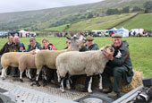 Reeth show 2009 - Sheep parade