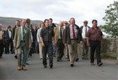 Reeth Show 2010 - Marching down from reeth